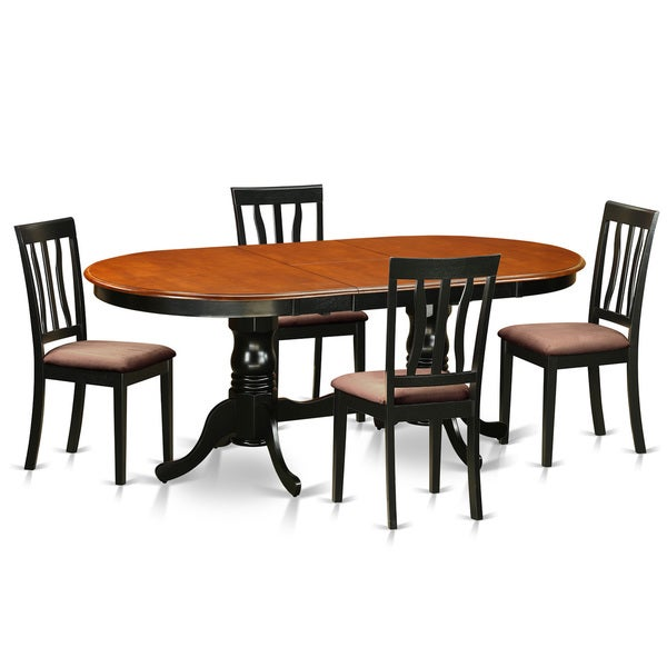 Cherry Table And Chairs: Shop Black/Cherry Rubberwood Dining Table With 4 Chairs