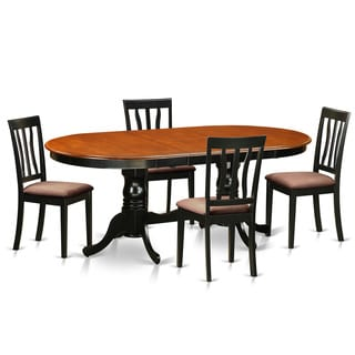 Black/Cherry Rubberwood Dining Table with 4 Chairs (Pack of 5)