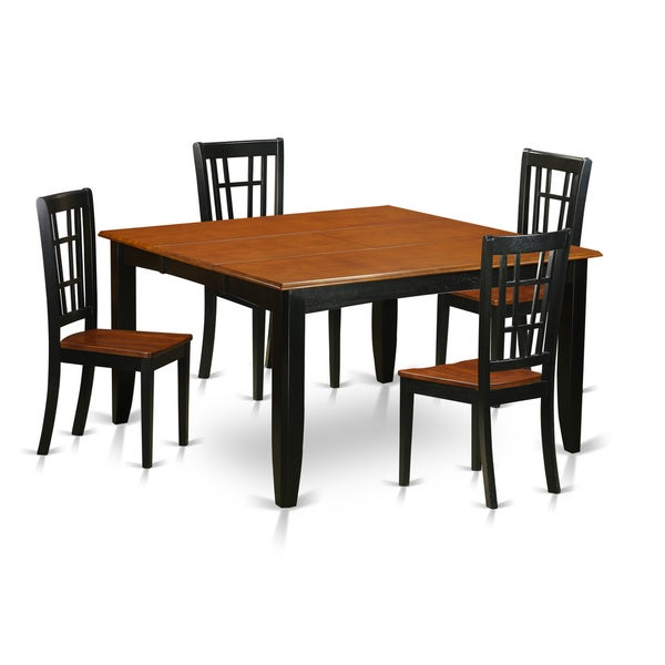 Shop PFNI5-BCH Black/Cherry Rubberwood Dining Table And 4