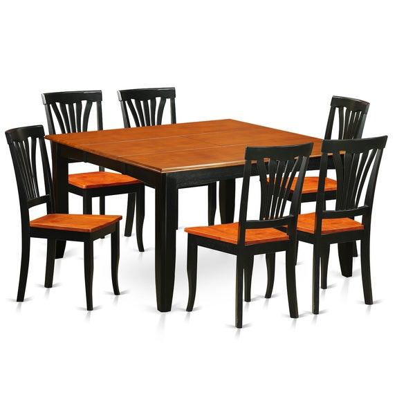Shop PFAV7-BCH Black/Cherry Rubberwood Dining Table And 6