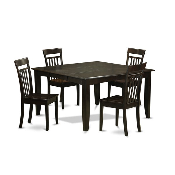 Pfca5 Cap Black Rubberwood 5 Piece Dining Table Set With Leaf Free Shipping Today 11967747