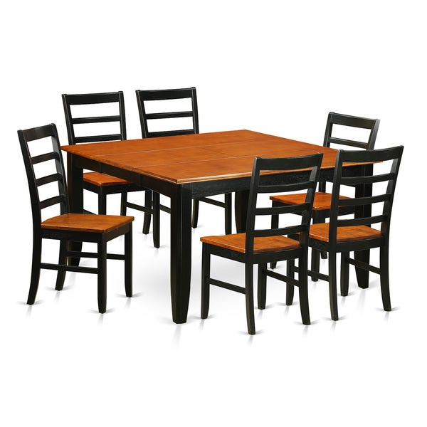 Square Dining Table With Bench: Shop Black/Cherry Finish Rubberwood Square Dining Table