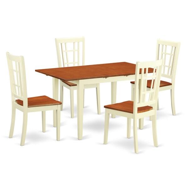 Cherry Kitchen Table Set: Shop NONI5-WHI Cream/Cherry Rubberwood Kitchen Table With