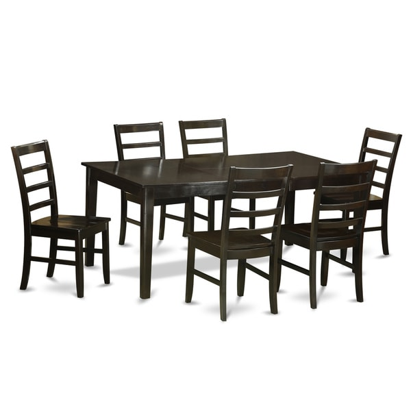 Shop Cappuccino Finish Rubberwood Dining Table With 6