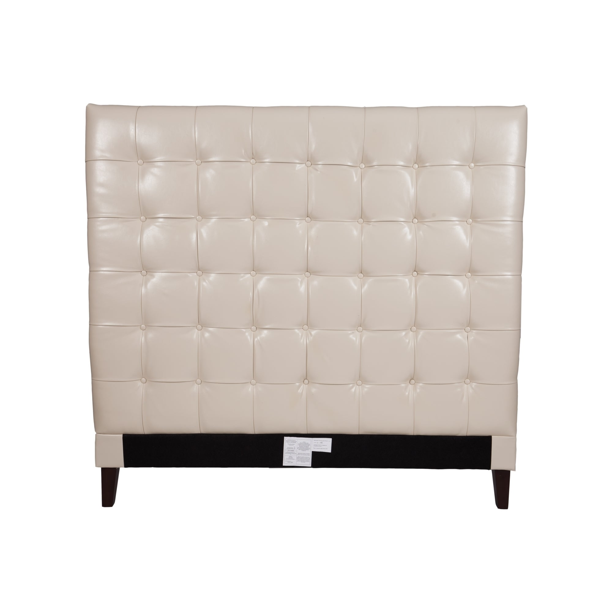 Chic Home Beethoven Cream White Bonded-leather Button-tuf...