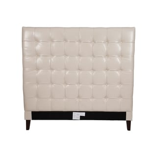 Chic Home Beethoven Cream White Bonded-leather Button-tufted Headboard
