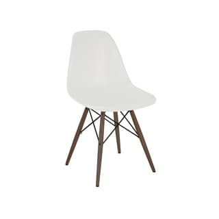Tribe Mid Century Almond Side Chair with Walnut Base (Set of 2)