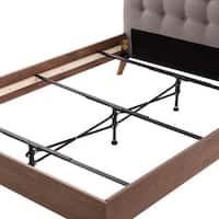 Brookside Black Steel Adjustable Center Support System Bed Frame