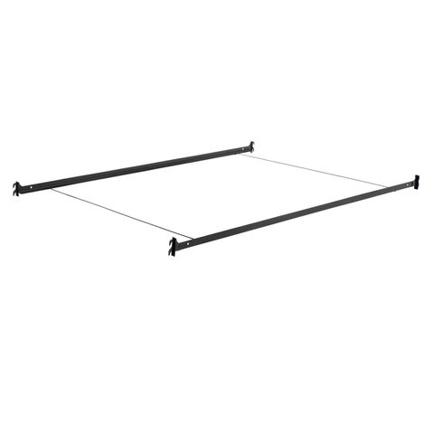 Malouf Structures Black Steel Hook-in Bed Rails with Wire Cross Supports