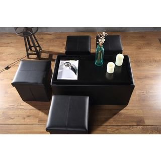 Storage Bench and Ottoman Set