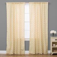 Geo Yellow Cotton Curtain Panel