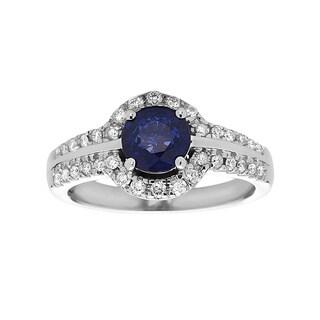 White Gold Sapphire Diamond 14k Ring