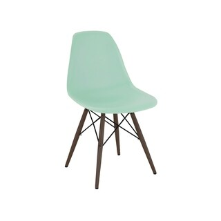 Trige Peppermint Mid Century Side Chair Walnut Base (Set of 2)