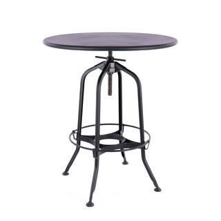 Toledo Adjustable Industrial Black Steel Bar Table