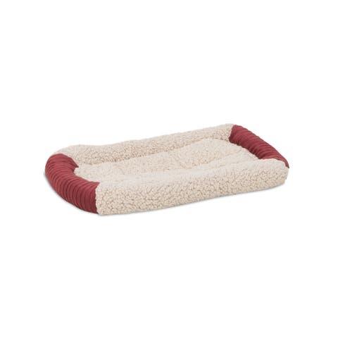 Aspen Self-warming Bolster Dog Crate Bed