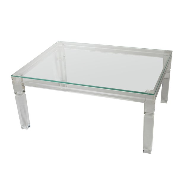 Diaphan Acrylic and Glass Coffee Table (40 x 30 x 18)