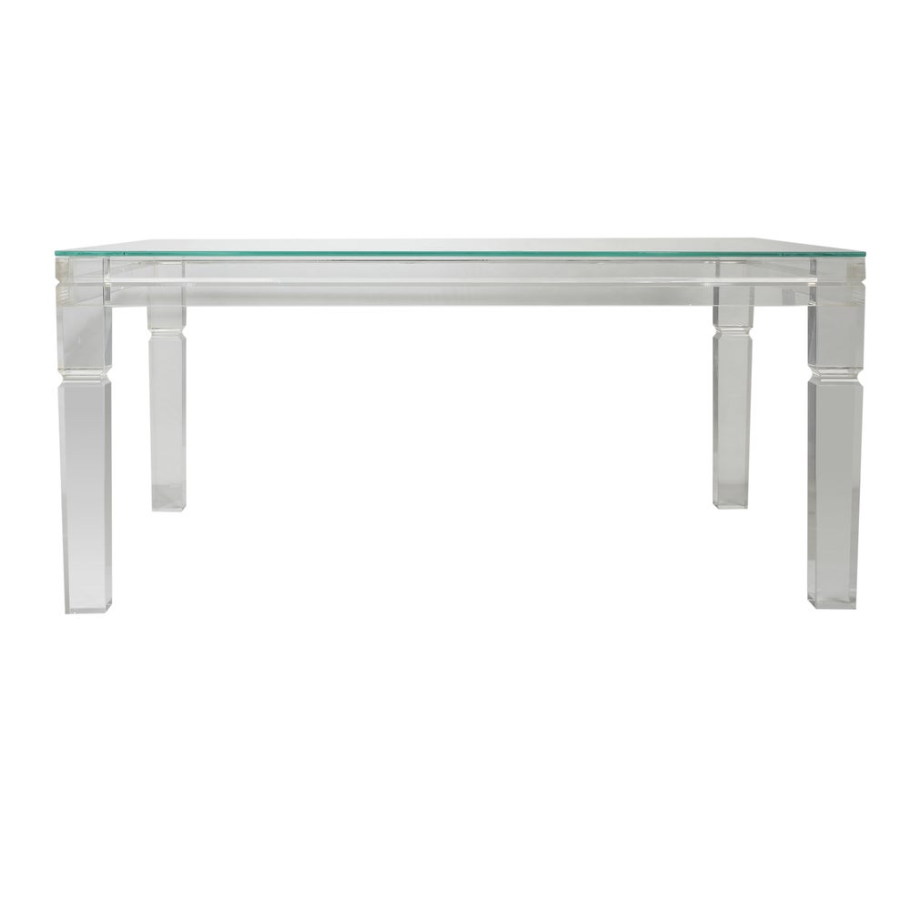 A and B Home Diaphan Acrylic and Glass Coffee Table (40 x 30 x 18) (Diaphan Coffee Table, Acrylic/Glass)