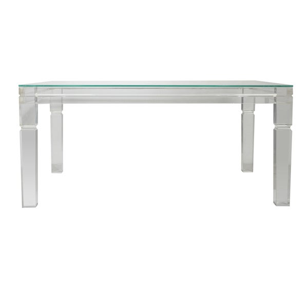 Awesome Diaphan Acrylic And Glass Coffee Table (40 X 30 X 18)