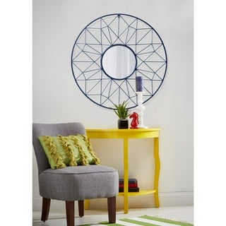 Round Metal Geometric Wall Mirror