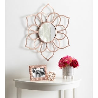 Brienne Metal Flower Round Mirror