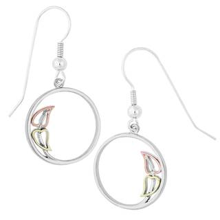 Vinya Silver and Gold Circle Earrings