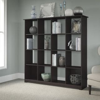 Cabot Collection Espresso Oak 16-cube Bookcase