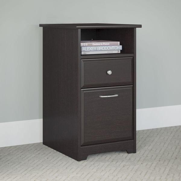 Cabot Espresso Oak 2 Drawer File Cabinet