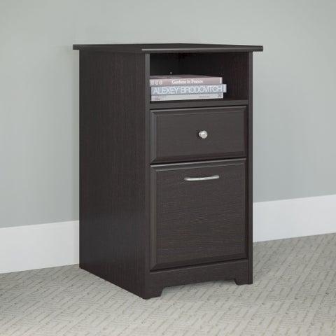 Porch & Den Brandywine Chippey Espresso Oak 2-drawer File Cabinet