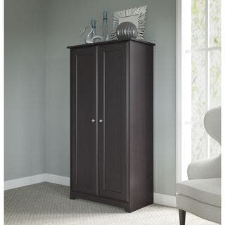 Cabot Espresso Oak Tall Storage Cabinet With Doors