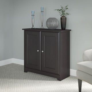 "Copper Grove Daintree Espresso Oak Low Storage Cabinet with Doors - 31.38""L x 12.40""W x 30.20""H"