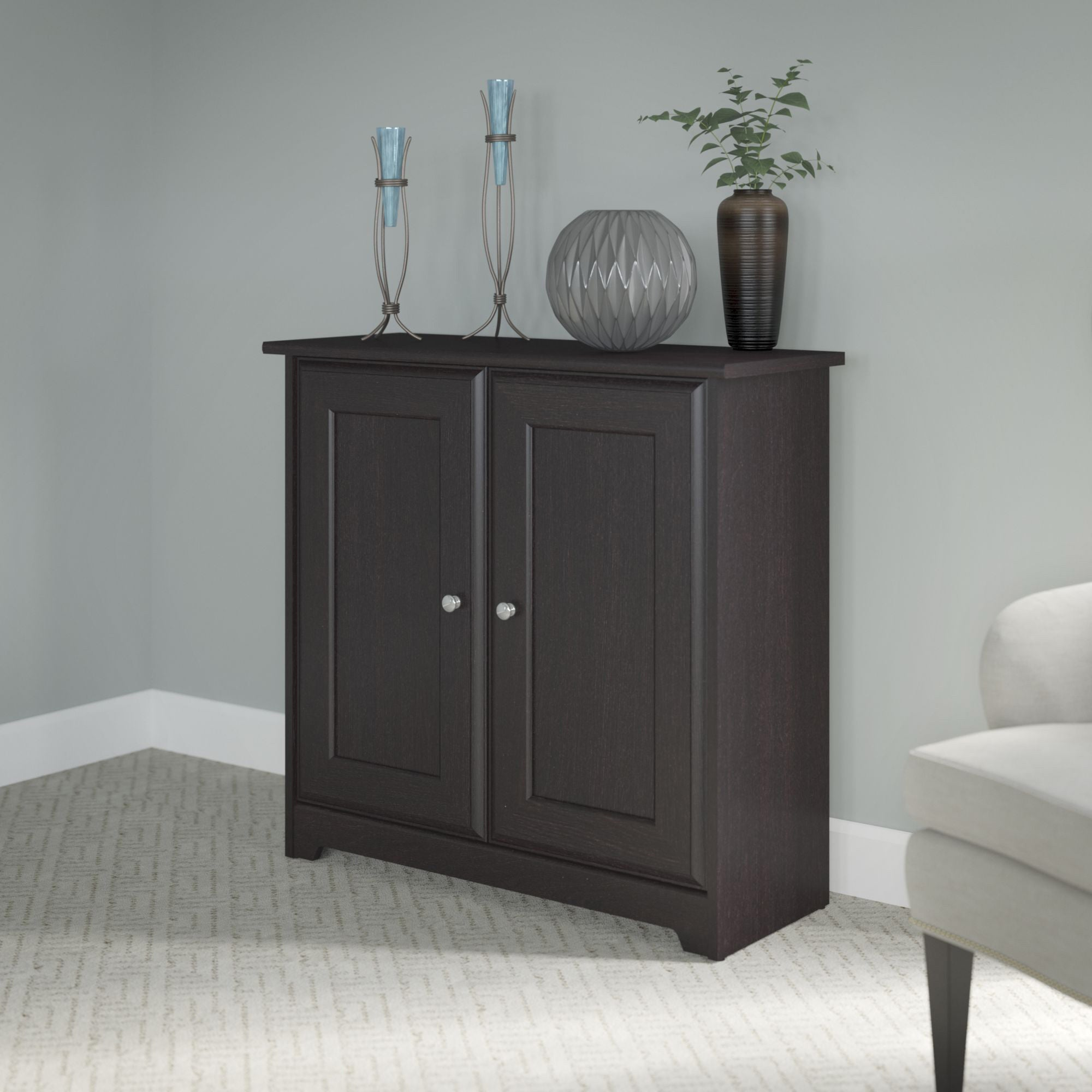 Copper Grove Daintree Espresso Oak Low Storage Cabinet With Doors Free Shipping On Orders Over 45 11968437