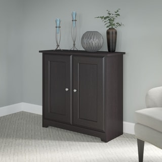Cabot Collection Espresso Oak 2-door Storage Cabinet