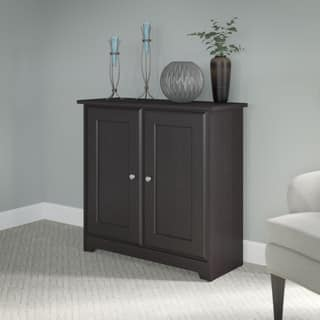 Cabot Espresso Oak Low Storage Cabinet with Doors. Storage Cabinets For Less   Overstock com