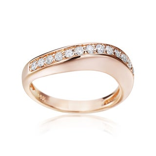 Andrew Charles 14k Rose Gold 1/3ct TDW Diamond Band (H-I, SI2-I1)