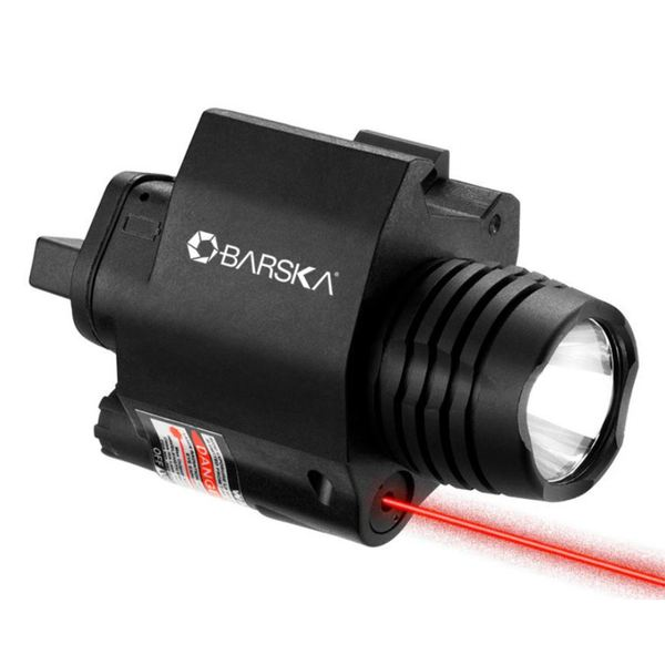 Barska 2nd Generation Mount 5mW Red Laser Sight and Flashlight Combo