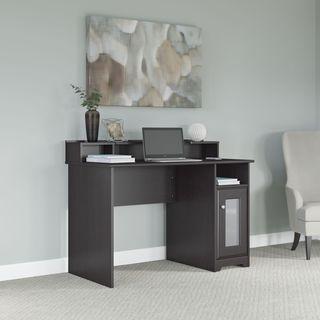 Cabot Collection 48W Single Pedestal Desk with Desktop Organizer