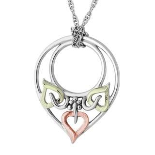 Vinya 12k Gold and Silver Teardrop Pendant