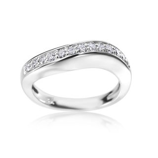 Andrew Charles 14k White Gold 1/3ct TDW Diamond Band (H-I, SI2-I1)