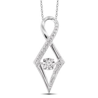 Jewelonfire Sterling Silver White Diamond Accent Infinity Pendant