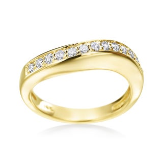 Andrew Charles 14k Yellow Gold 1/3ct TDW Diamond Band (H-I, SI2-I1)