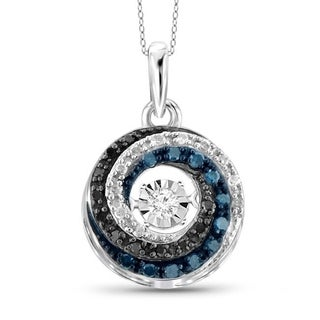 Jewelonfire 1/6ct TDW Multi Color Diamond Pendant