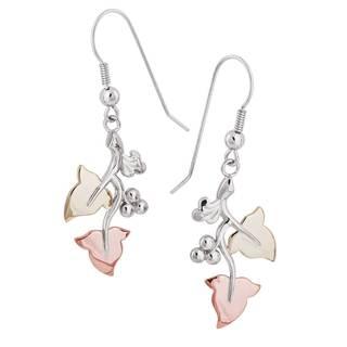 Vinya 12k Gold and Silver Dangle Earrings