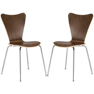 Light Society Edgemod Elgin Solid-colored Steel/Wool Side Chair (Set of 2)
