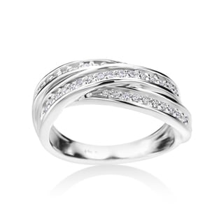 Andrew Charles 14k White Gold 1/5ct TDW Diamond Fashion Ring
