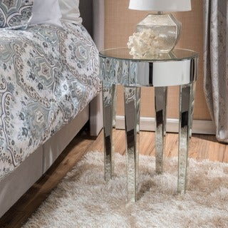 Normandie Mirrored Round End Table by Christopher Knight Home