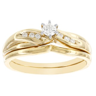 H Star 14k Yellow Gold 1/5ct TDW Diamond Bridal Set (I-J, I2-I3)