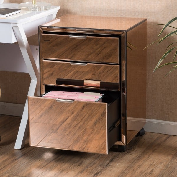 Centinela Three Drawer Mirrored Cabinet By Christopher