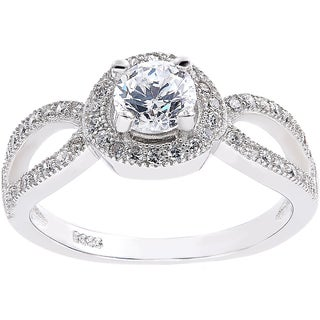 Sterling Silver Cubic Zirconia Engagement Style Solitare Ring