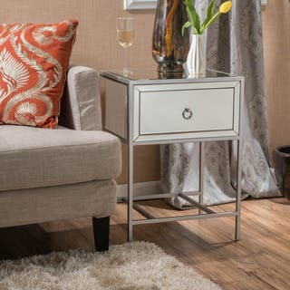 Rodeo One-Drawer Mirrored End Table by Christopher Knight Home|https://ak1.ostkcdn.com/images/products/11968954/P18853034.jpg?impolicy=medium