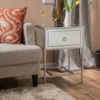Rodeo One-Drawer Mirrored End Table by Christopher Knight Home